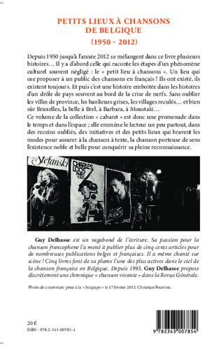 4eme Petits lieux à chansons de Belgique (1950-2012)