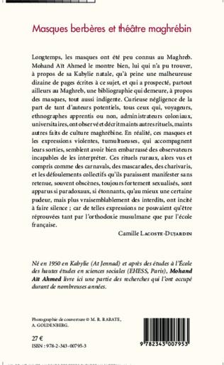4eme Masques Berbères et théâtre maghrébin