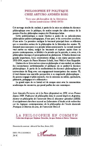 4eme Philosophie et politique chez Arturo Andrés Roig