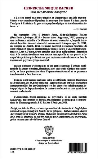 4eme Heinrich / Enrique Racker