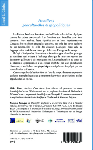 4eme Frontières géoculturelles et géopolitiques