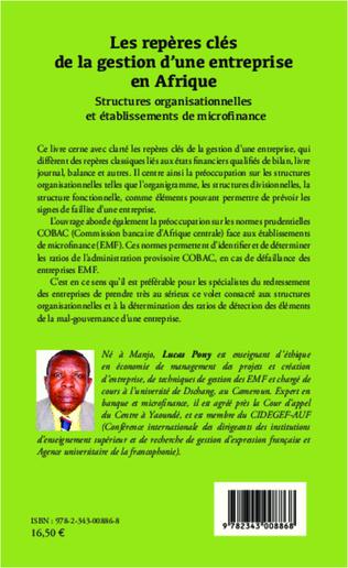 4eme Les repères clés de la gestion d'une entreprise en Afrique