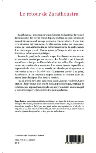 4eme Le retour de Zarathoustra