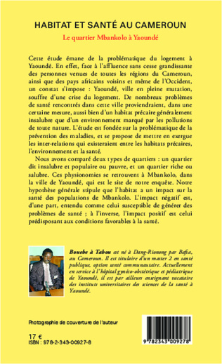 4eme Habitat et santé au Cameroun