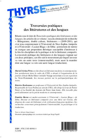 4eme Traversées poétiques des littératures et des langues