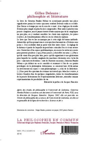 4eme Gilles Deleuze : philosophie et littérature
