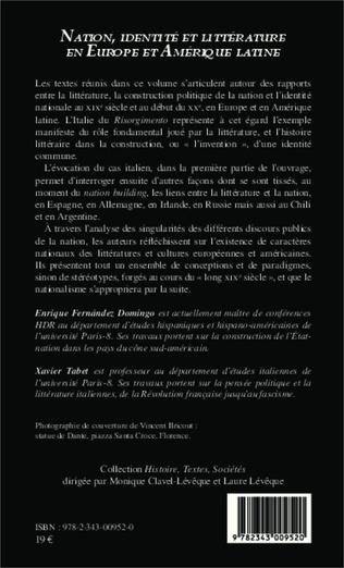 4eme Nation identité et littérature en Europe et en Amérique latine (XIXème-XXème siècles)