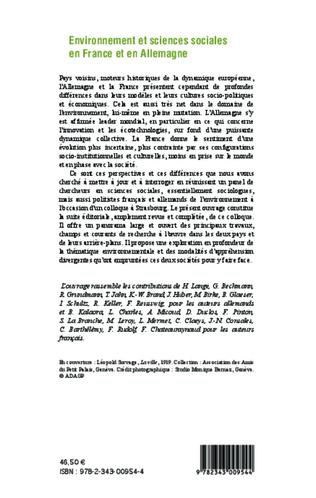 4eme Environnement et sciences sociales en France et en Allemagne