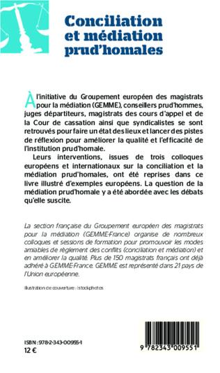 4eme Conciliation et médiation prud'homales