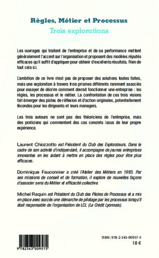 4eme Règles, Métier et Processus