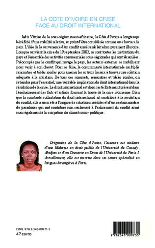 4eme La Côte d'Ivoire en crise face au droit international