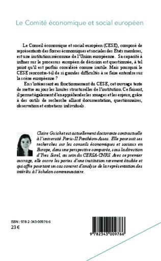 4eme Le Comité économique et social européen