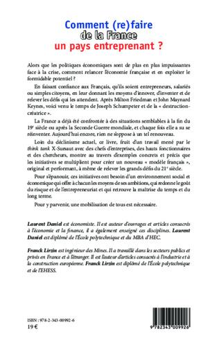 4eme Comment (re)faire de la France un pays entreprenant ?