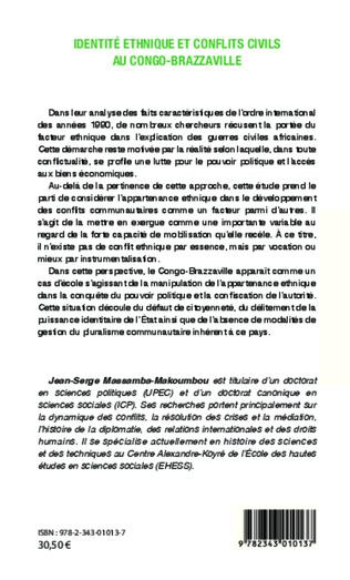 4eme Identité ethnique et conflits civils au Congo-Brazzaville