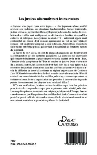 4eme Les justices et leurs avatars