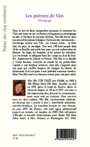4eme Les poèmes de Vân - <em>Témoignage</em>