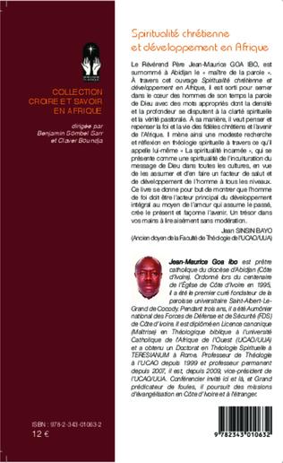 4eme Spiritualité chrétienne et développement en Afrique