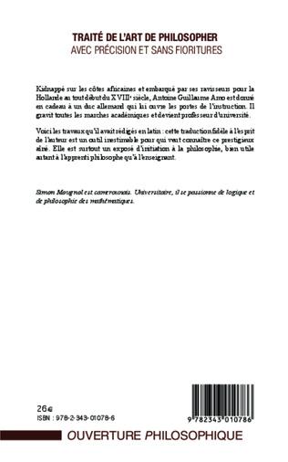 4eme Traité de l'art de philosopher avec précision et sans fioritures