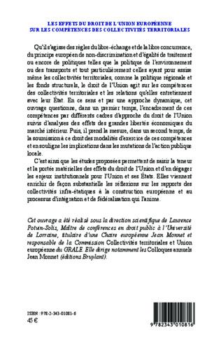 4eme Les effets du droit de l'Union Européenne sur les compétences des collectivités territoriales