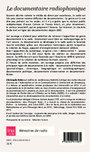 4eme Le documentaire radiophonique
