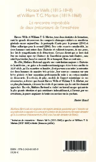 4eme Horace Wells (1815-1848) et William T. G. Morton (1819-1868)