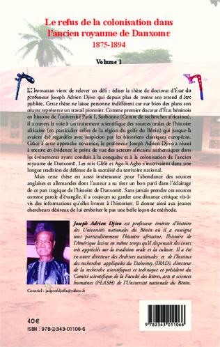 4eme Le refus de la colonisation dans l'ancien royaume de Danxome (volume 1)
