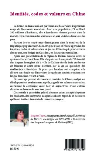 4eme Identités, codes et valeurs en Chine