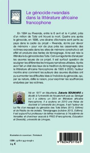 4eme Le génocide rwandais dans la littérature africaine francophone