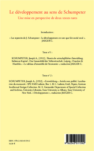 4eme Le développement au sens de Schumpeter
