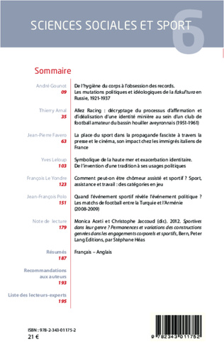 4eme Sciences Sociales et Sport n° 6