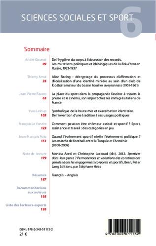 4eme Sciences Sociales et Sport n° 6