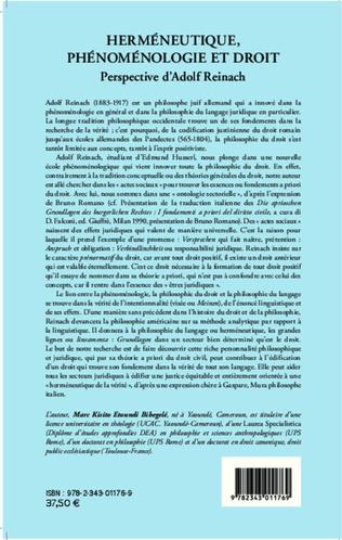 4eme Herméneutique, phénoménologie et droit