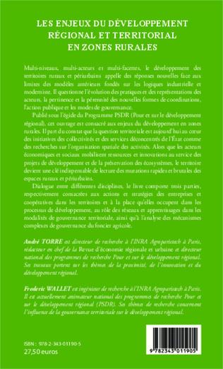 4eme Les enjeux du développement régional et territorial