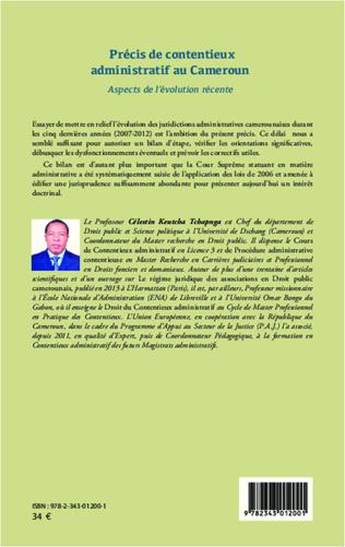 4eme Précis de contentieux administratif au Cameroun