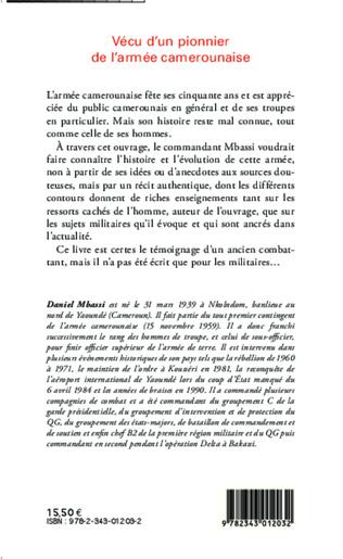 4eme Vécu d'un pionnier de l'armée camerounaise