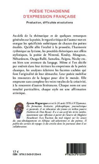 4eme Poésie tchadienne d'expression française