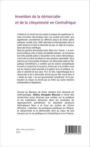 4eme Invention de la démocratie et de la citoyenneté en Centrafrique