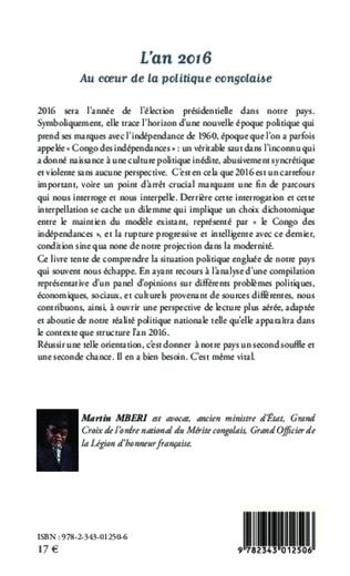 4eme L'an 2016 Au coeur de la politique congolaise