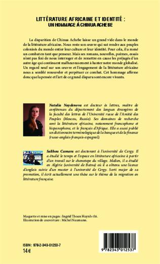 4eme Littérature africaine et identité : un hommage à Chinua Achebe