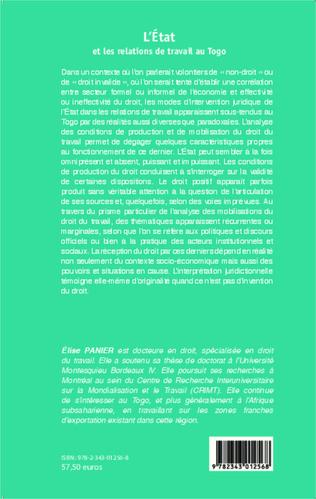 4eme L'Etat et les relations de travail au Togo