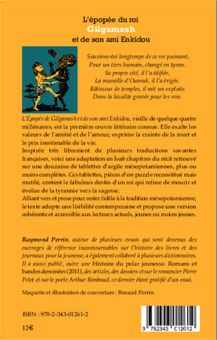 4eme L'épopée du roi Gilgamesh et de son ami Enkidou