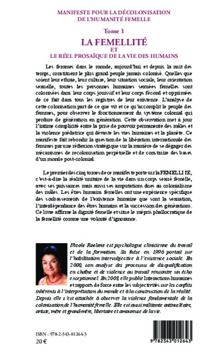4eme Manifeste pour la décolonisation de l'humanité femelle (Tome 1)
