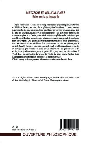 4eme Nietzsche et William James