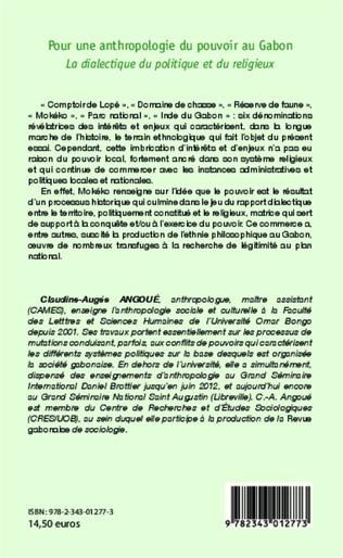 4eme Pour une anthropologie du pouvoir au Gabon