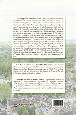 4eme La mise en oeuvre du développement territorial durable :