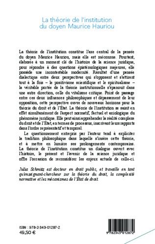 4eme La théorie de l'institution du doyen Maurice Hauriou