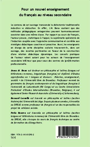4eme Pour un nouvel enseignement du français au niveau secondaire