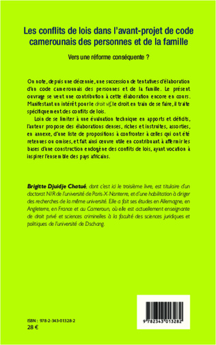 4eme Les conflits de lois dans l'avant-projet de code camerounais des personnes et de la famille
