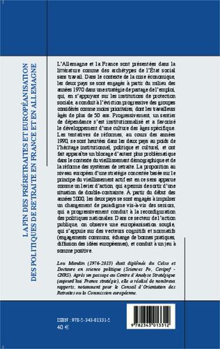 4eme La fin des préretraites et européanisation des politiques de retraite en France et en Allemagne