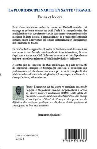 4eme La pluridisciplinarité en santé / travail